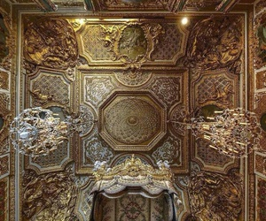 gold, architecture, and versailles image