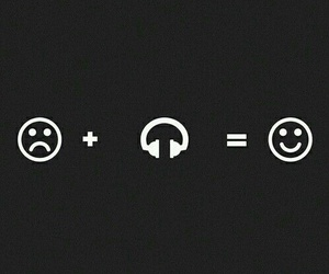 happy, music, and sad image