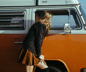 girl, orange, and vintage image