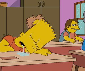 school, bart, and simpsons image