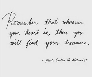 quote, heart, and treasure image