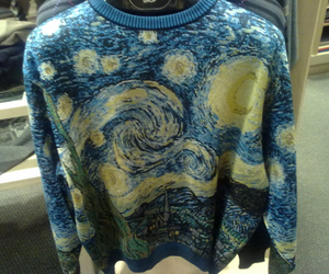 art, sweater, and van gogh image