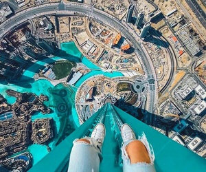 city, Dubai, and blue image
