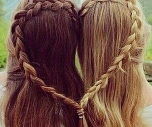 hair, heart, and friends image