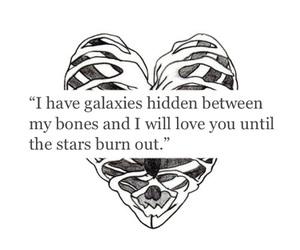 love, bones, and galaxy image