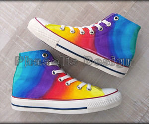 colorful, rainbow, and converse image