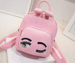 pink, bag, and eyes image