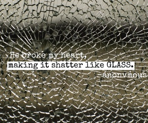 glass and heart broken image