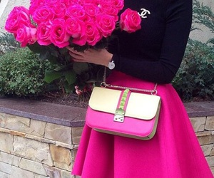 pink, outfit, and chanel image