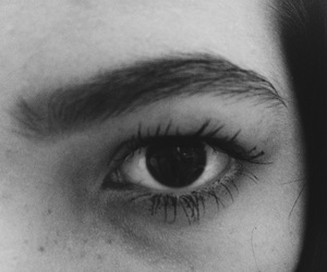 alternative, eye, and blackandwhite image