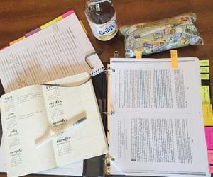 book, desk, and studyblr image