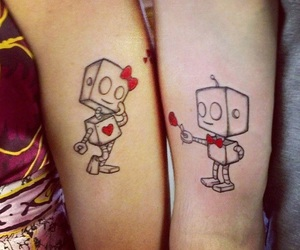 tattoo, love, and robot image