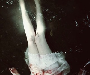 water, dark, and girl image