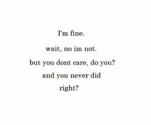 you, i'm fine, and don't care image