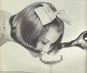 drink, champagne, and vintage image