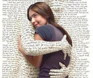 book, hug, and words image