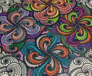 colorfull, paint, and mandalas image