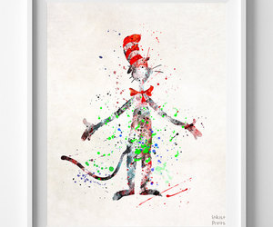 etsy, doctor seuss, and watercolor print image
