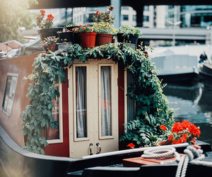 boat, canal, and venice image