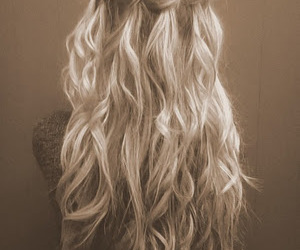 blonde, hippie, and hairl image