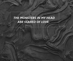 scared, monster, and love image