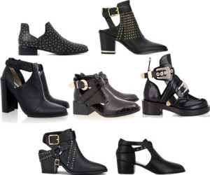 ankle boots, black, and studs image