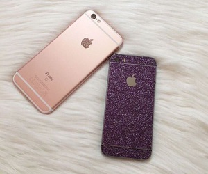 apple, case, and glitter image