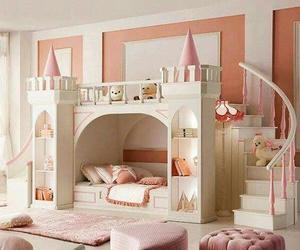 pink, princess, and bedroom image