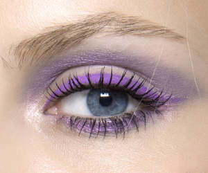 purple, makeup, and eye image