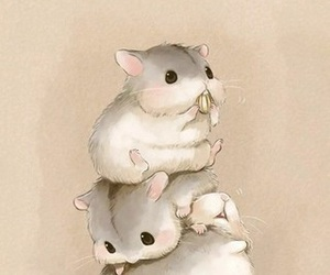 hamster, animal, and art image