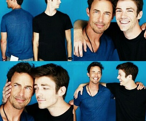 flash, tom cavanagh, and grant gustin image