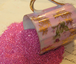 glitter, pink, and cup image
