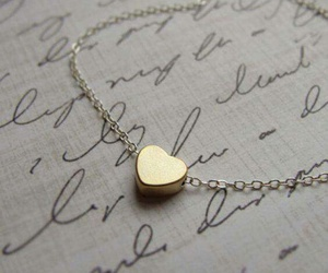 heart, gold, and necklace image