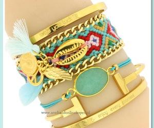 bohemian, bracelets, and ibiza image