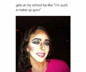 funny, school, and makeup image