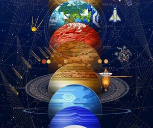 universe, planet, and space image