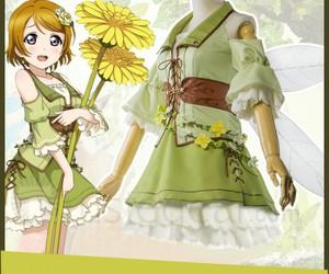 love live cosplay, cute anime dress, and hanayo koizumi cosplay image