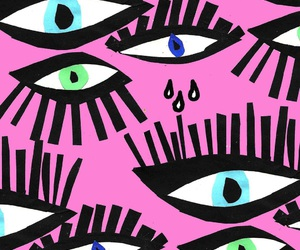 colors, eyes, and pink image