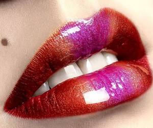 lips, red, and pink image