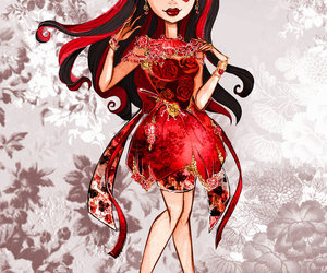 queen of hearts, ever after high, and lizzie hearts image