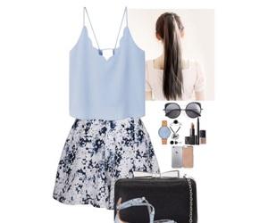 beige, skirt, and black image
