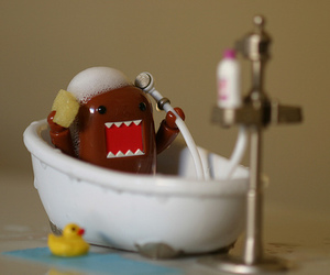 domo, cute, and bath image