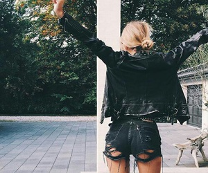 black, fashion, and girly image
