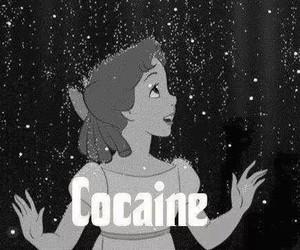 cocaine, disney, and drugs image