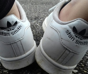 black, stan smith, and sneakears image