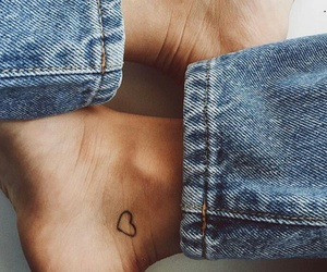 tattoo, beautiful, and denim image