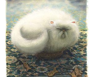 art, Benjamin Lacombe, and cat image