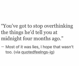 quote, sad, and overthinking image