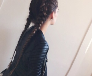 braids, fashion, and longhair image