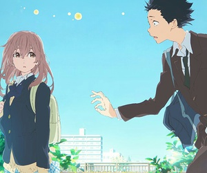 koe no katachi, anime, and movie image